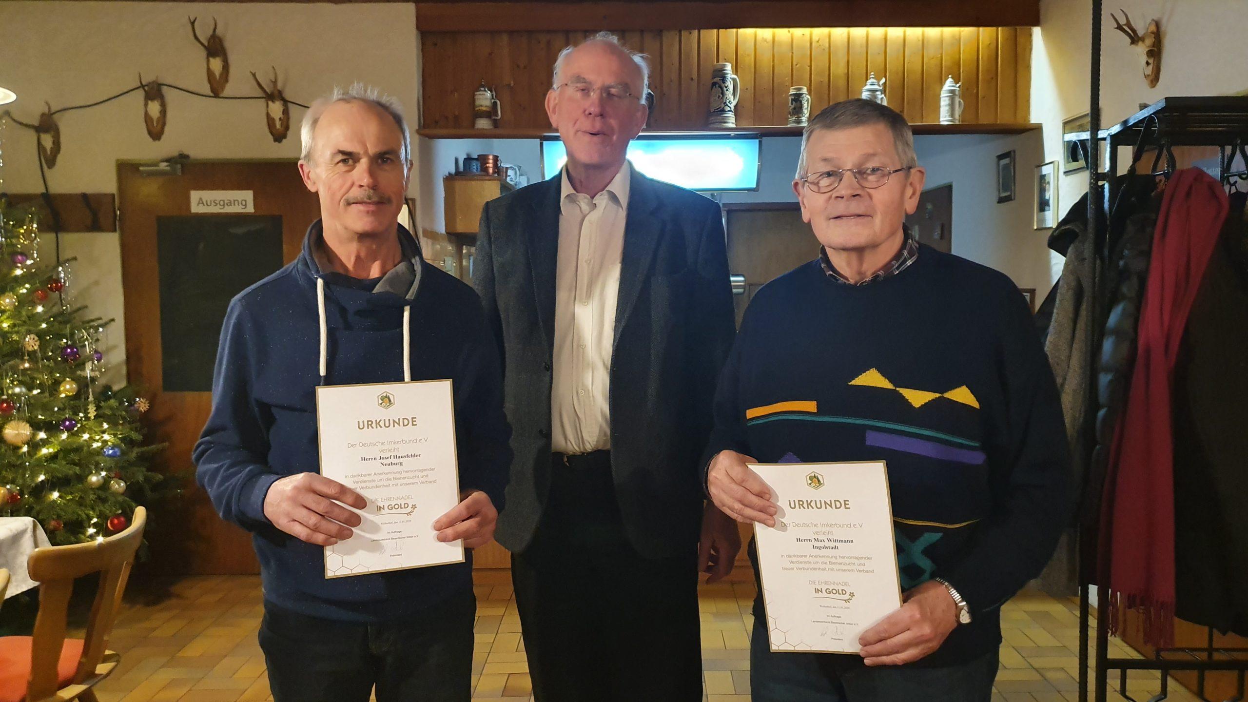 Imkerverein Wellheim ehrt Mitglieder